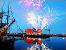Fireworks at Tall ships festival