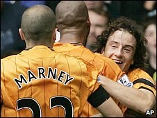 Stephen Hunt celebrates his goal for Hull against Chelsea