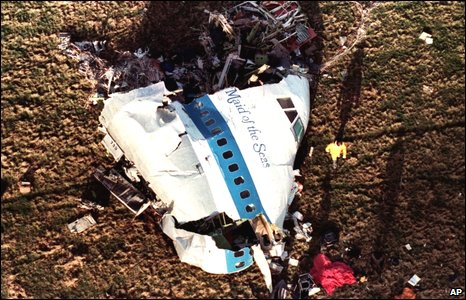 Lockerbie wreckage