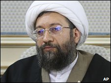 Sadeq Larijani, in an image released by Iran's semi-official Fars News Agency, Jan 2009