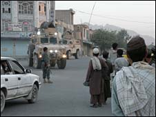 Isaf patrol in Kandahar