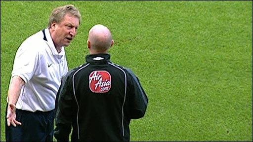 Neil Warnock remonstrates with a touchline official