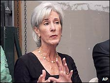 US Health Secretary Kathleen Sebelius. Photo: August 2009