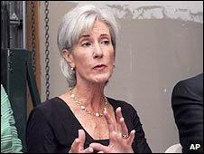 US Health Secretary Kathleen Sebelius. Photo: August 2009