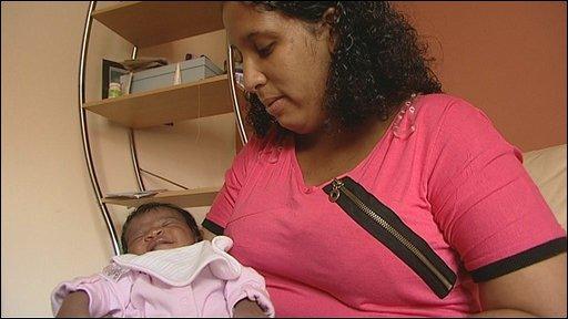 Carmen Blake and her daughter