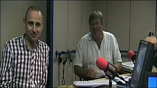 Evan Davis and Edward Stourton