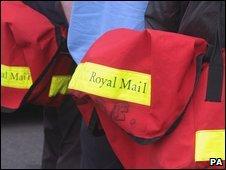 Postal worker during earlier strikes in August