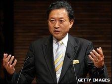 DPJ leader Yukio Hatoyama in debate with Prime Minister Taro Aso - 12 August 2009