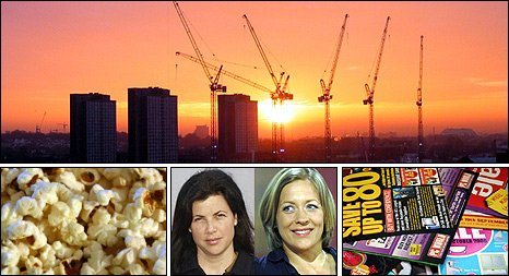 Cranes, Popcorn, Property shows and junkmail