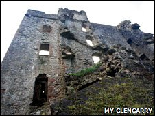 Real ruins of Invergarry