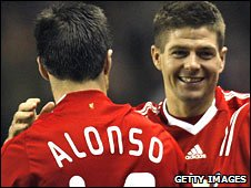 Steven Gerrard (right) and Liverpool need to find an answer to the loss of Xabi Alonso