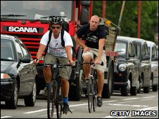 Cyclists and lorries