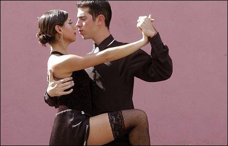 Tango dancing in La Boca, Buenos Aries, Argentina