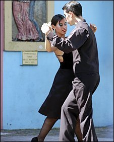 Tango performers in Buenos Aries