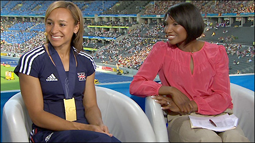 Jessica Ennis and Denise Lewis