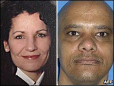 US Judge Sharon Keller and convicted murderer Michael Richard (file images)