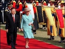 With Queen Elizabeth