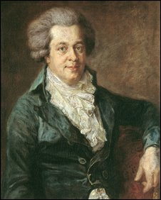 Reproduction of a painting of Wolfgang Amadeus Mozart
