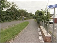 Cycle path near Easton Road