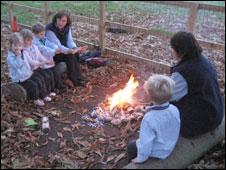 Sitting round the campfire
