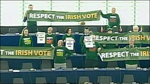 MEPs call on the EU to respect the result of the Irish referendum