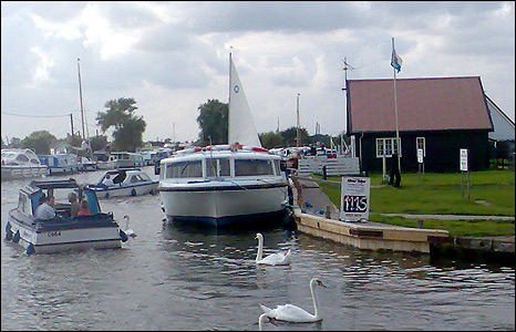 The river at Potter Heigham  by Nadine Digby