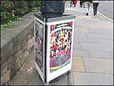 Legal poster lamppost