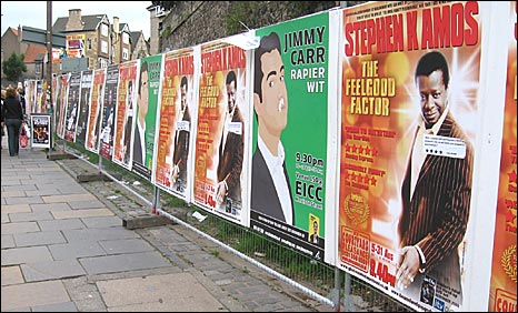 Legal poster heras fencing at The Pleasance