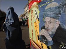 Poster of Hamid Karzai in Herat
