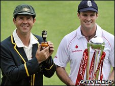 Australia skipper Ricky Ponting and England captain Andrew Strauss
