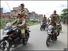 Security forces in Imphal, Manipur