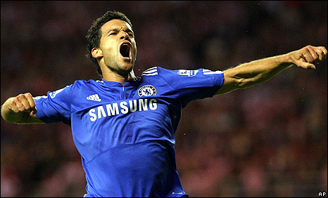 Michael Ballack got the equaliser for Chelsea