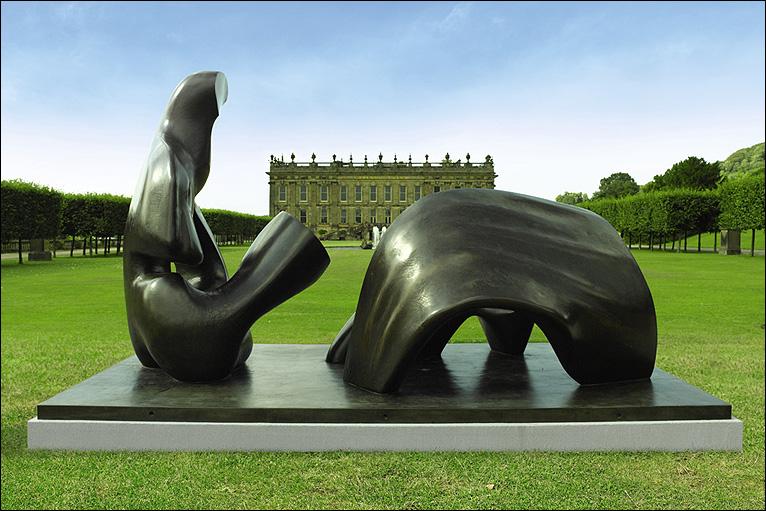 Henry Moore. Three Piece Reclining Figure DRaoed (1975)