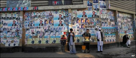Kabul campaign posters (AP)