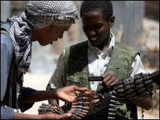 Young Islamist fighters in Mogadishu