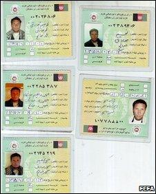 Duplicate Afghan voting cards (FEFA)