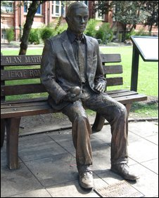 The statue of Alan Turing in Sackville Gardens