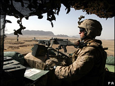 US Marine in Helmand (file)
