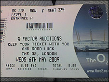 X Factor ticket