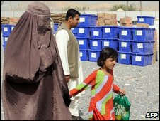 Female election agent in Afghanistan