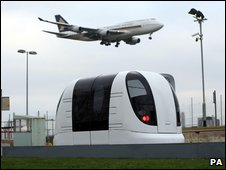 Autonomous vehicle at Heathrow (PA)