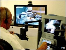 Robotic surgery console (PA)