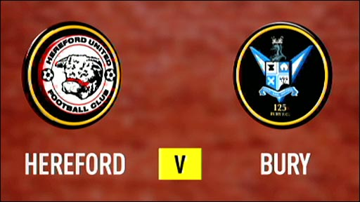 Hereford United v Bury