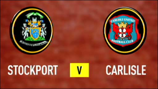 Stockport v Carlisle