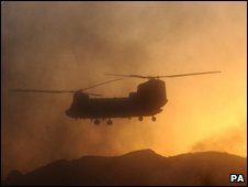 Chinook in Helmand