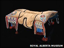 A saddle as used by the aboriginal Metis people of Canada (Royal Alberta Museum )