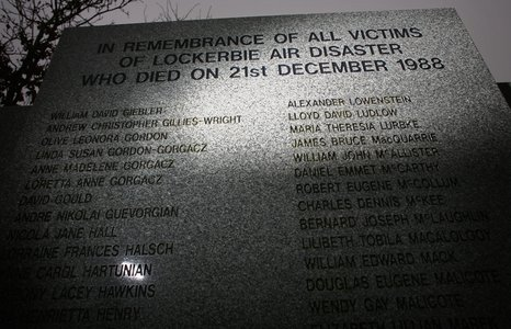 Lockerbie memorial stone