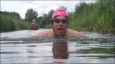 Swimming down the River Bure
