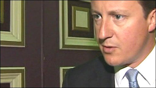 Conservative leader David Cameron