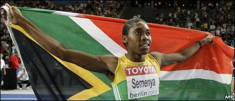 Caster Semenya at the World Championships,